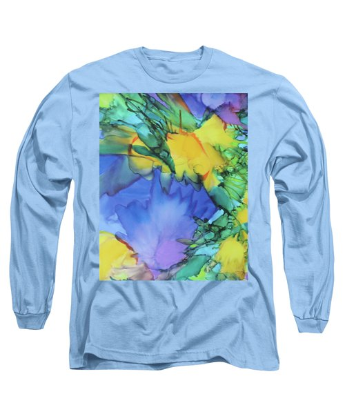 Purple Bird Of Paradise Long Sleeve T-Shirt