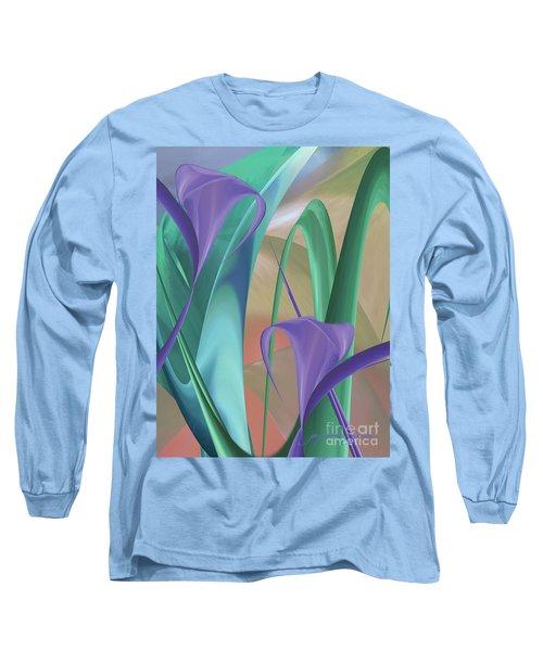 Purple Calla Lilies Long Sleeve T-Shirt