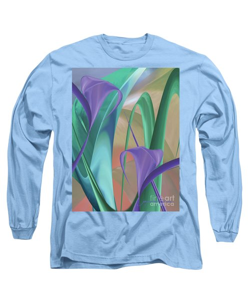 Purple Calla Lilies Long Sleeve T-Shirt