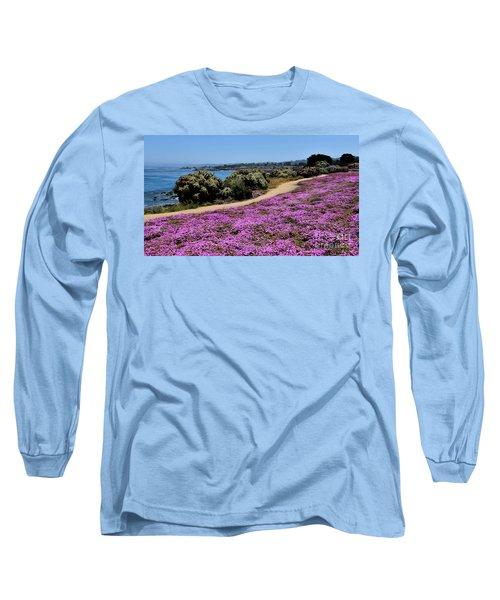 Purple Carpet Long Sleeve T-Shirt by Gina Savage