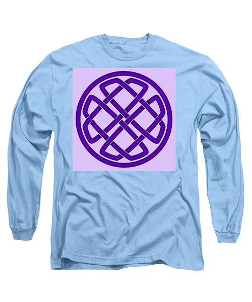 Long Sleeve T-Shirt featuring the digital art Purple Celtic Knot by Jane McIlroy
