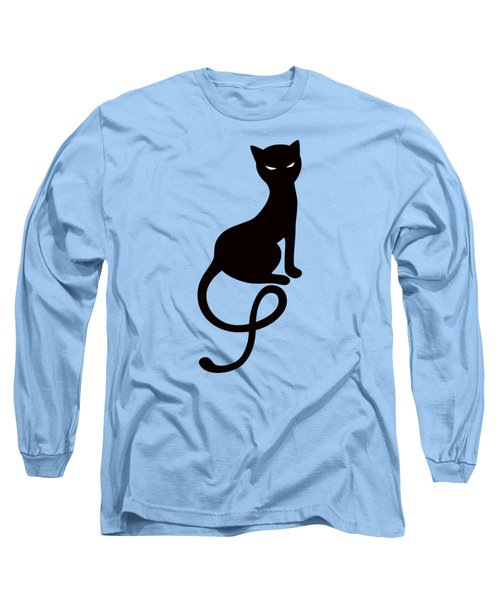 Purple Gracious Evil Black Cat Long Sleeve T-Shirt