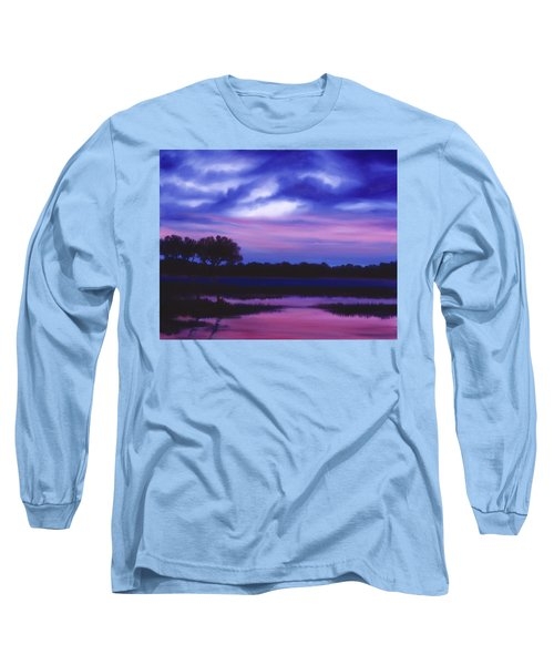 Purple Landscape Or Jean's Clearing Long Sleeve T-Shirt