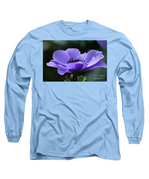 Purple Poppy Mona Lisa Long Sleeve T-Shirt