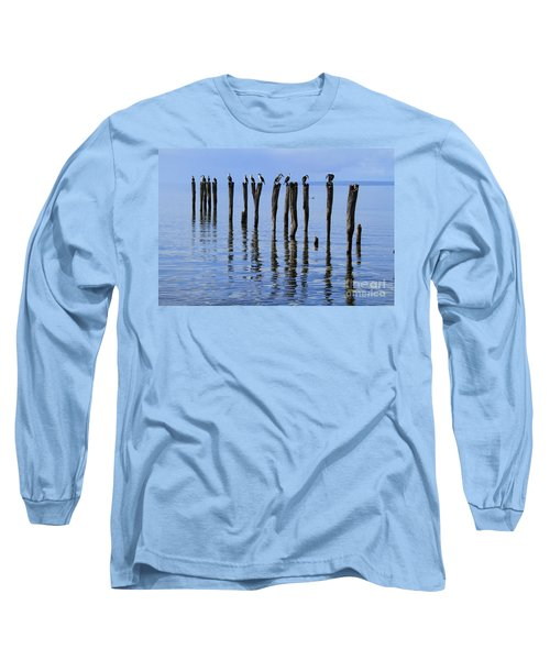 Long Sleeve T-Shirt featuring the photograph Quay Rest by Stephen Mitchell