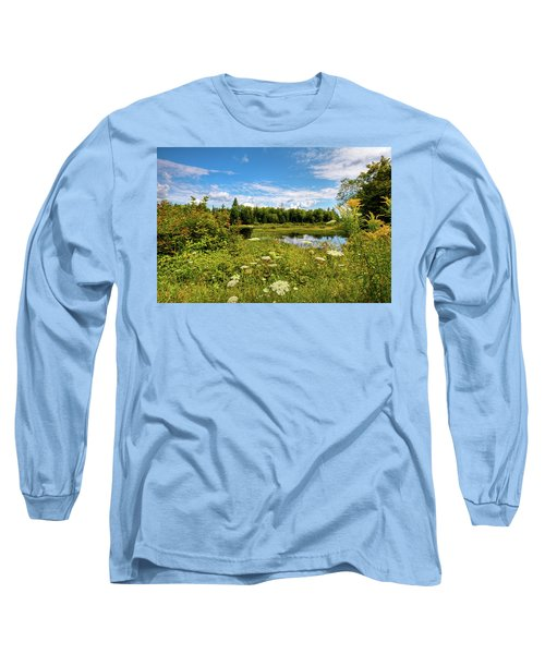 Long Sleeve T-Shirt featuring the photograph Queen Anne's Lace On The Moose River by David Patterson