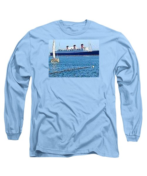 Queen Mary Long Sleeve T-Shirt by James Knecht