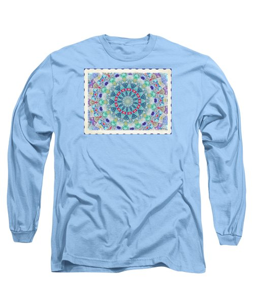 Long Sleeve T-Shirt featuring the photograph Quilted Color  Wheel by Shirley Moravec