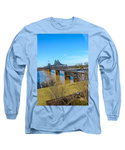 Long Sleeve T-Shirt featuring the photograph Rail Road Bridge by Jerry Cahill