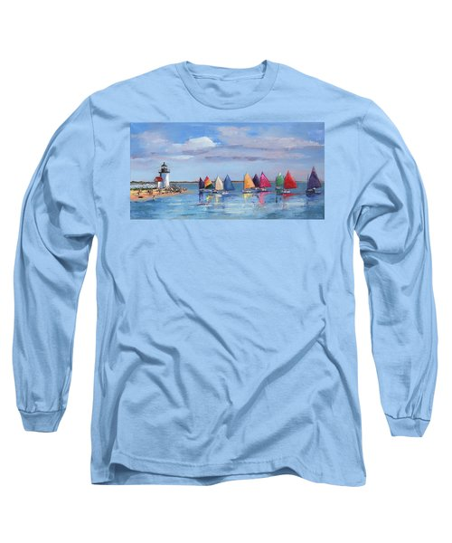 Rainbow Fleet Parade At Brant Point Long Sleeve T-Shirt