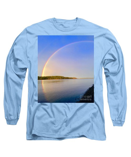 Rainbow Reflection Long Sleeve T-Shirt by Sean Griffin