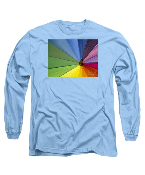 Long Sleeve T-Shirt featuring the photograph Rainbow Umbrella by Inge Riis McDonald