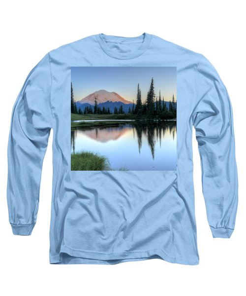 Rainier From Tipsoo Long Sleeve T-Shirt by Peter Mooyman