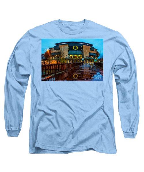 Rainy Autzen Stadium Long Sleeve T-Shirt
