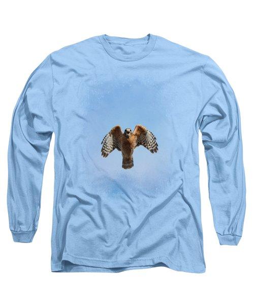 Raptor's Warning Long Sleeve T-Shirt by Jai Johnson