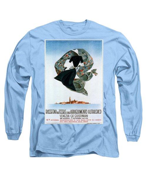 Rassegna Del Tessile E Del'abbigliamento Autarchico - Venezia, Italy - Retro Travel Poster Long Sleeve T-Shirt