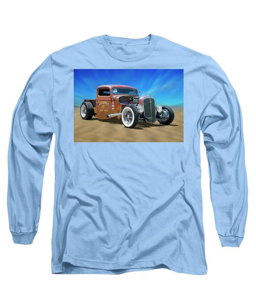 Long Sleeve T-Shirt featuring the photograph Rat Truck On The Beach by Mike McGlothlen