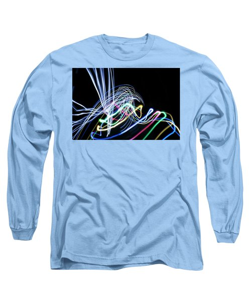 Raven In The Night Long Sleeve T-Shirt by Ellery Russell