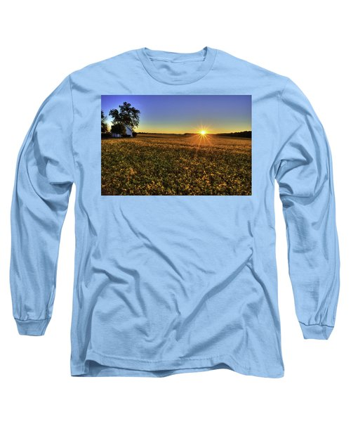 Rays Over The Field Long Sleeve T-Shirt