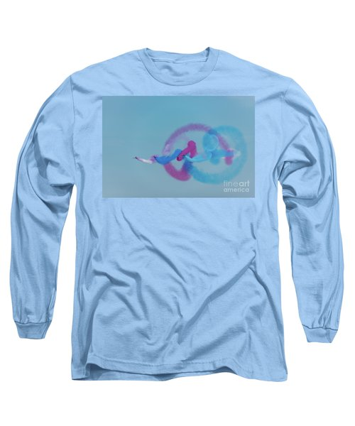 Long Sleeve T-Shirt featuring the photograph Red Arrows Gypo Swirls by Gary Eason