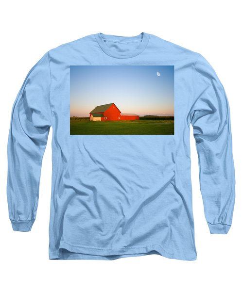 Red Barn And The Moon Long Sleeve T-Shirt