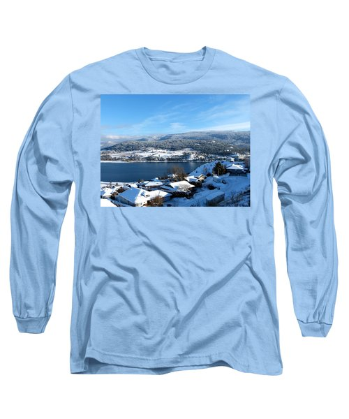Long Sleeve T-Shirt featuring the photograph Red Barn In The Distance by Will Borden