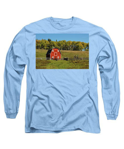 Red Barn On The Hill Long Sleeve T-Shirt