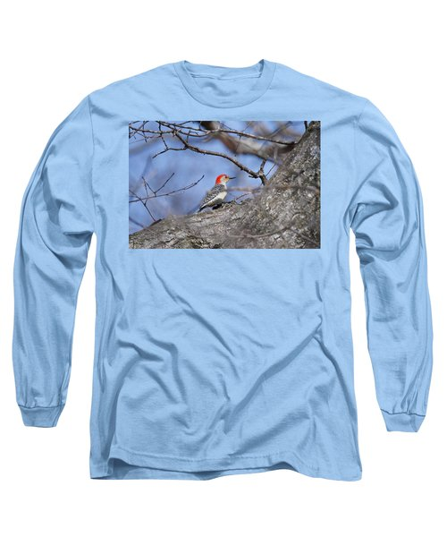 Long Sleeve T-Shirt featuring the photograph Red-bellied Woodpecker 1134 by Michael Peychich