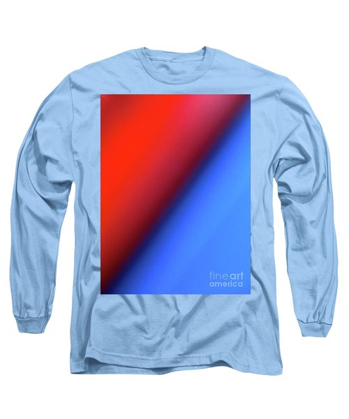 Long Sleeve T-Shirt featuring the photograph Red Blue by CML Brown