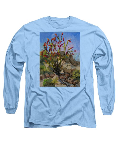 Red Flame Ocotillo 5 Long Sleeve T-Shirt