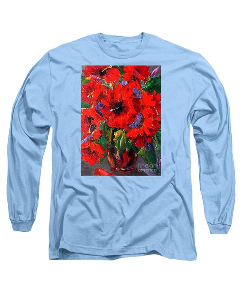 Red Floral Long Sleeve T-Shirt