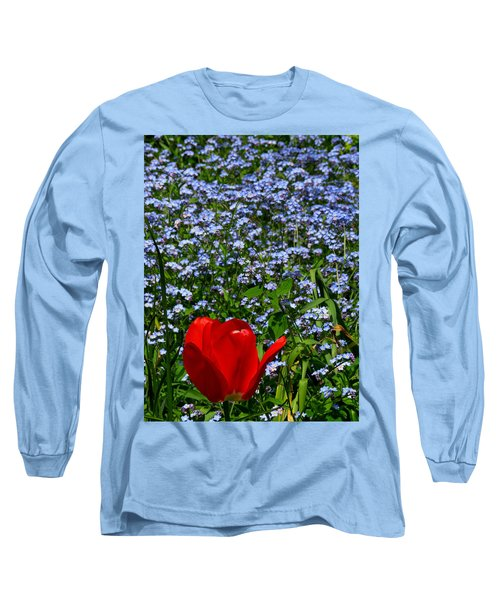 Red In Blue2 Long Sleeve T-Shirt