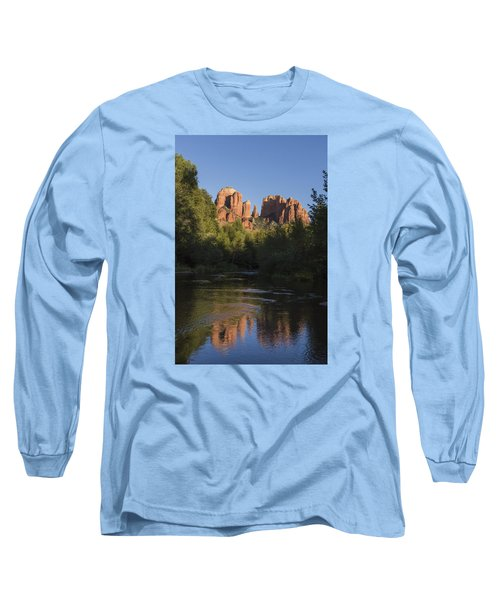 Long Sleeve T-Shirt featuring the photograph Red Rock Reflections by Laura Pratt