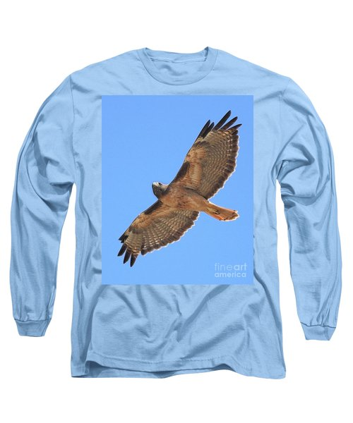 Red Tailed Hawk In Flight Long Sleeve T-Shirt