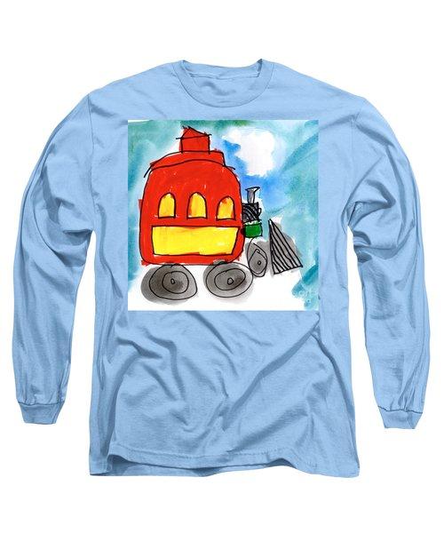 Red Train Long Sleeve T-Shirt