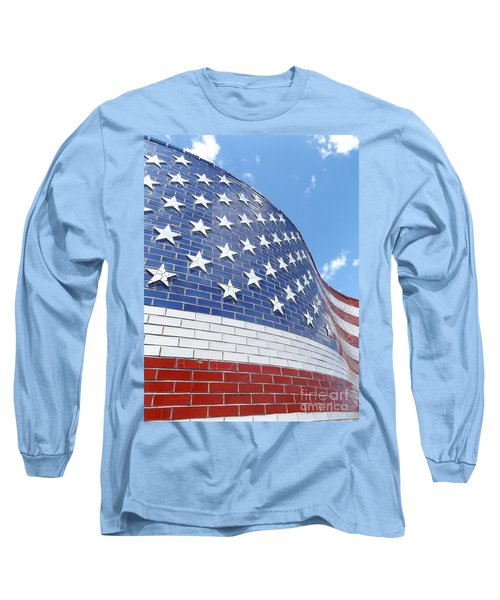 Red White And Blue Long Sleeve T-Shirt by Erick Schmidt