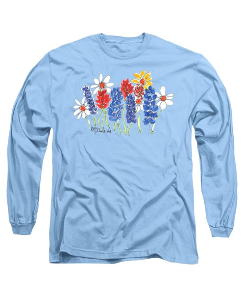 Red White And Blue Garden By Kmcelwaine Long Sleeve T-Shirt