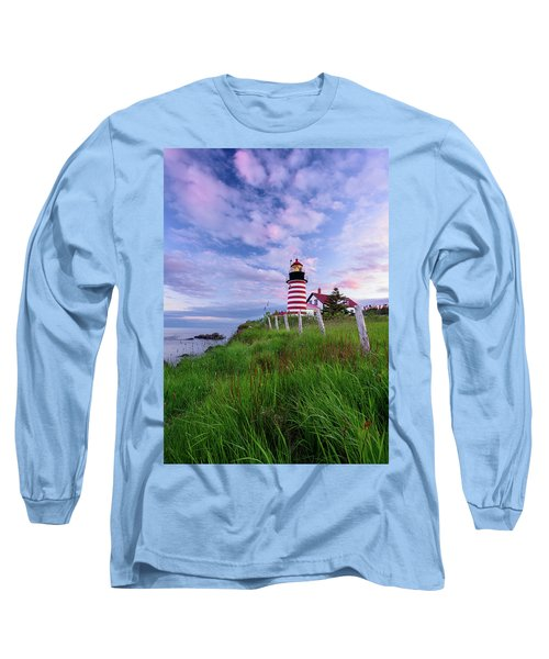 Red, White And Blue - Vertical Long Sleeve T-Shirt