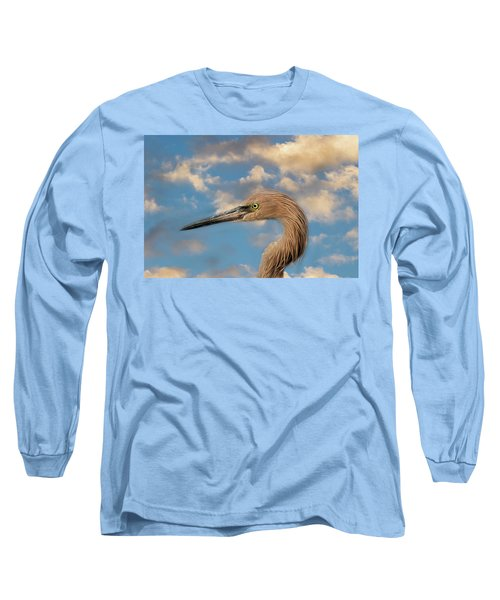Long Sleeve T-Shirt featuring the photograph Reddish Egret by Kim Hojnacki