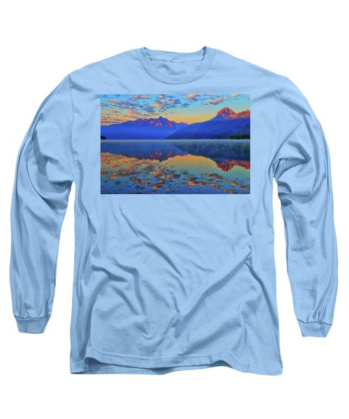 Redfish Lake Morning Reflections Long Sleeve T-Shirt