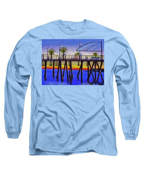 Redondo Beach Pier Long Sleeve T-Shirt by Jamie Frier