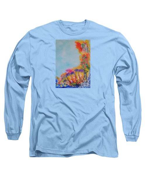 Long Sleeve T-Shirt featuring the painting Reef Corals by Lyn Olsen