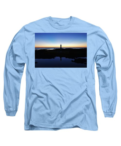Reflection Of Bodie Light At Sunset Long Sleeve T-Shirt