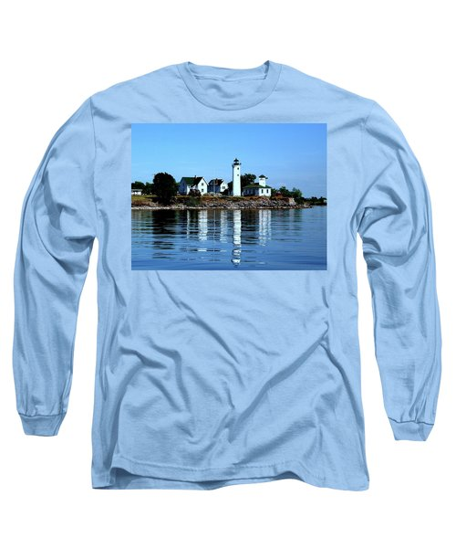 Reflections At Tibbetts Point Lighthouse Long Sleeve T-Shirt