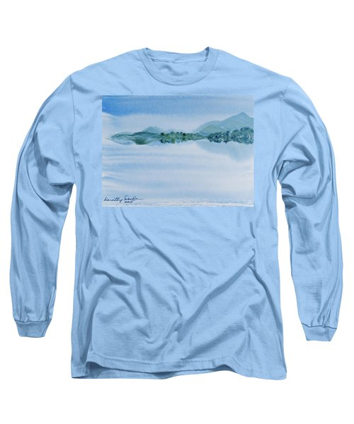 Reflection Of Mt Rugby In Bathurst Harbour Long Sleeve T-Shirt