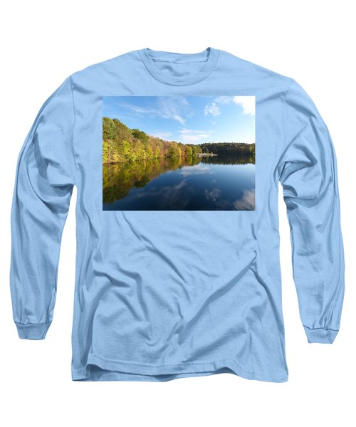 Reflections Of Autumn Long Sleeve T-Shirt by Donald C Morgan