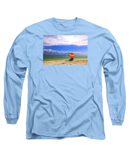 Long Sleeve T-Shirt featuring the digital art Relaxing On Sanibel by Sharon Batdorf