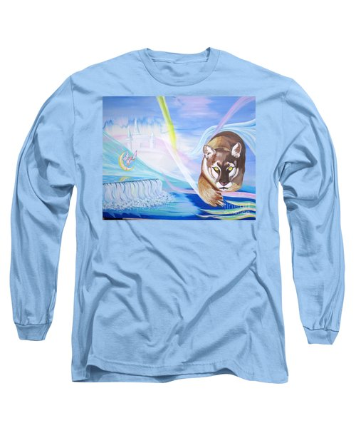 Long Sleeve T-Shirt featuring the painting Remembering Childhood Dreams by Phyllis Kaltenbach