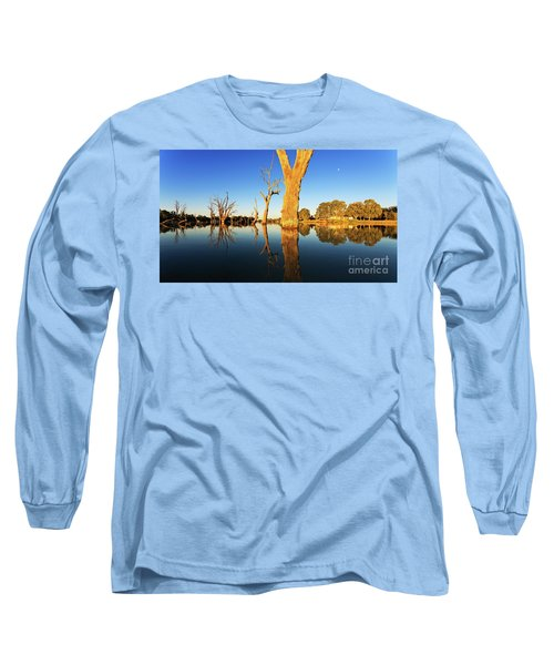 Long Sleeve T-Shirt featuring the photograph Renamrk Murray River South Australia by Bill Robinson