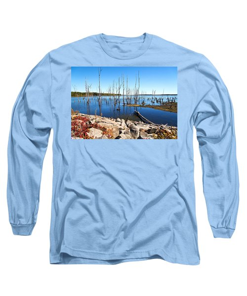 Long Sleeve T-Shirt featuring the photograph Reservoir by Angel Cher